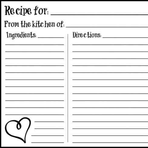 recipe card sample 14.041