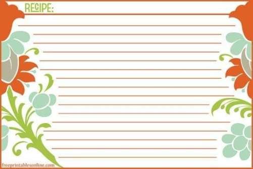 recipe card sample 17.941