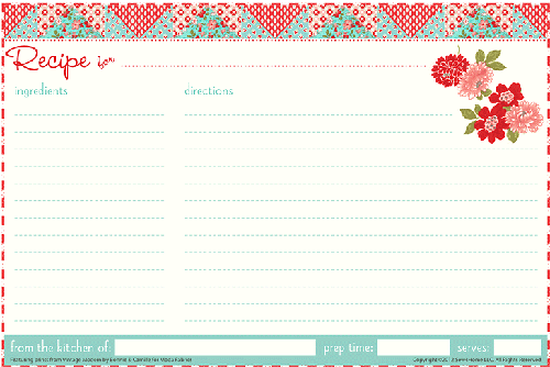 recipe card sample 3941