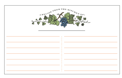 recipe card template 174784