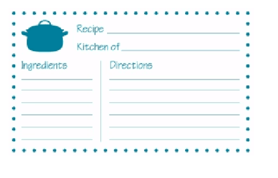 recipe card template 356541
