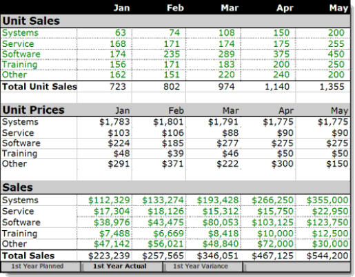 sales plan example 8941