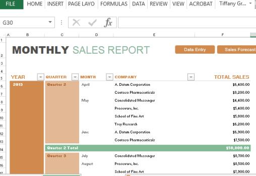 sales report sample 12.4441