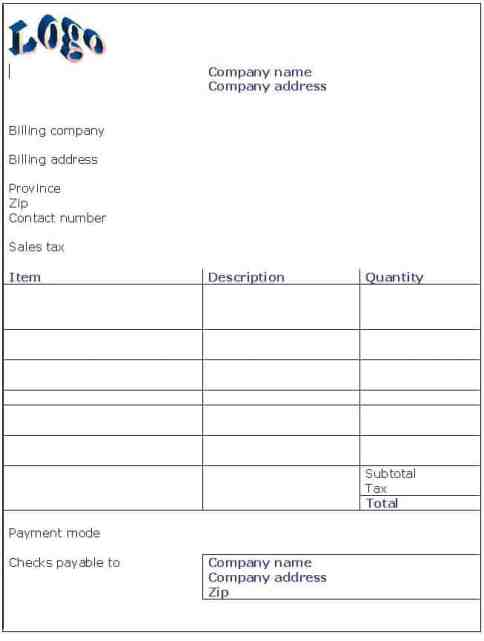 service invoice sample 11.1