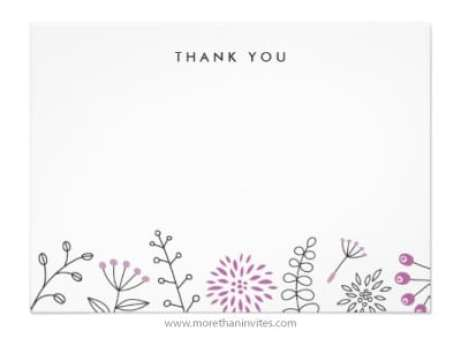 thank you card sample 13.64