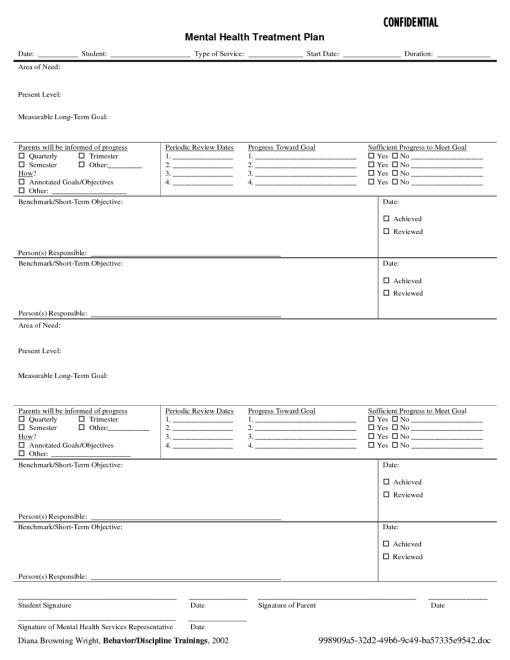 treatment plan example 49641