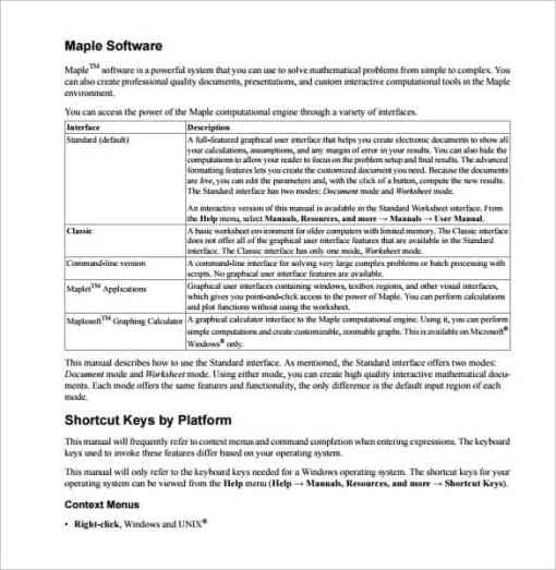 user manual sample 16.641