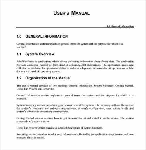 user manual sample 941