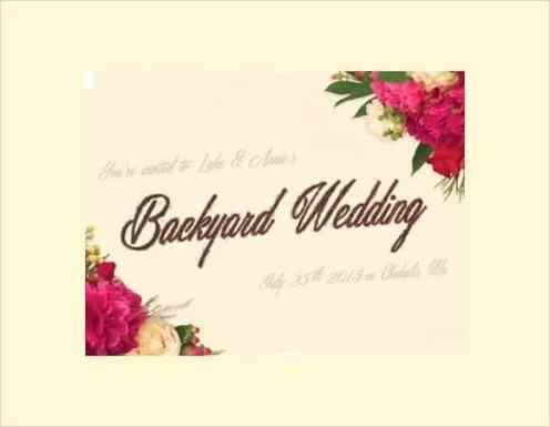 wedding invitation sample 6941