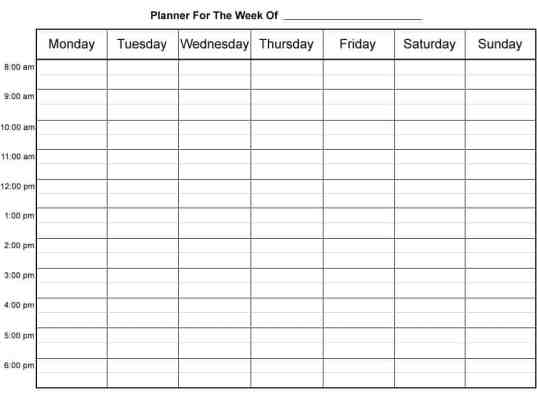 weekly schedule sample 11.641