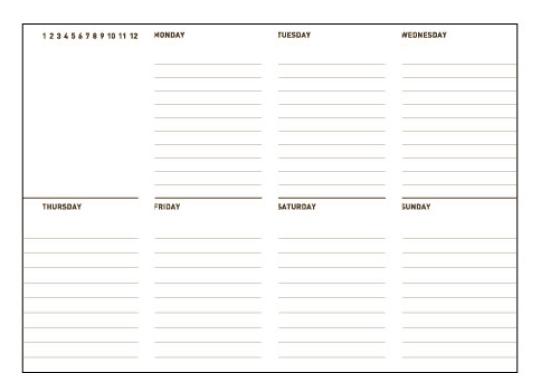 weekly schedule sample 16.641