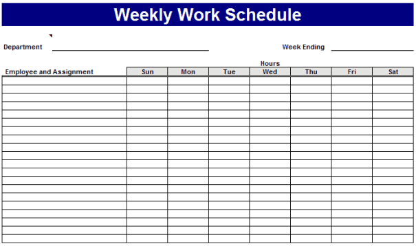 weekly schedule template 3946
