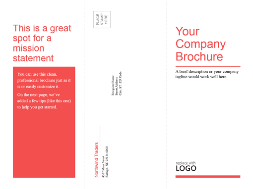how to get brochure template on word