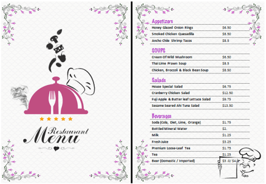 21+ Free Free Restaurant Menu Templates - Word Excel Formats