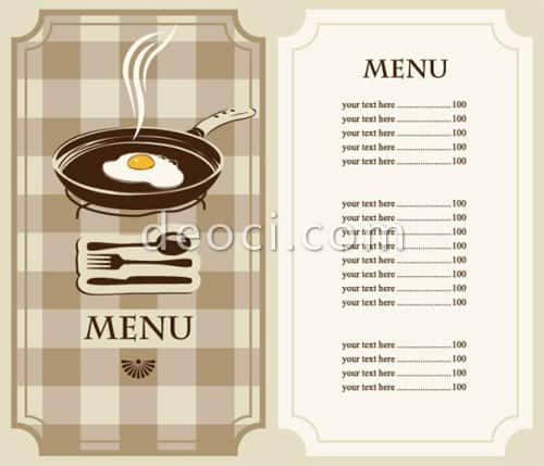 Free Restaurant Menu Sample 13.641 Clip