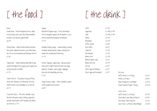 Free Restaurant Menu sample 59461