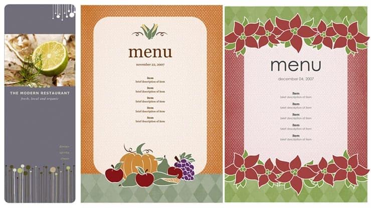 Lovely Free Restaurant Menu Sample 69641 Regarding Ms Word Menu Template