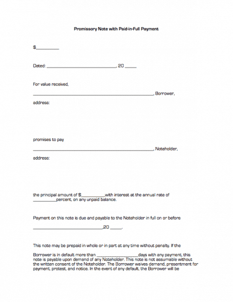 Doc460595 Sample Promissory Letter for Payment Demand for – Student Promissory Note Sample