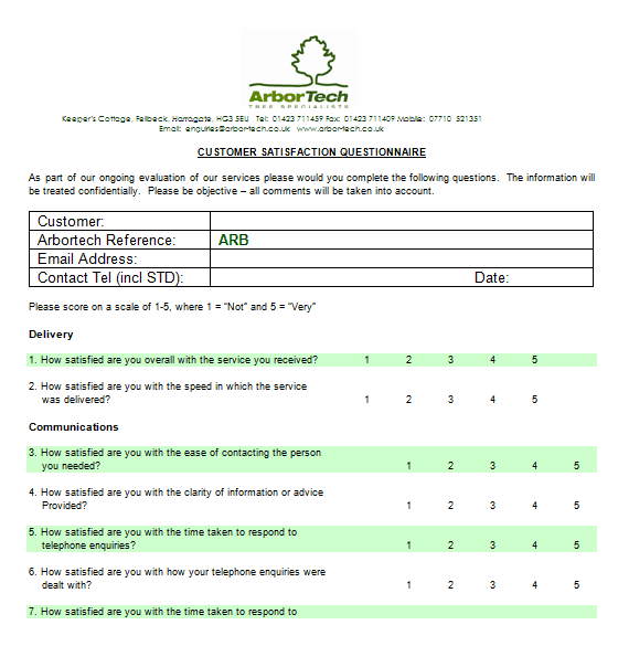 21 Free Satisfaction Survey Template Word Excel Formats – Free Survey Templates