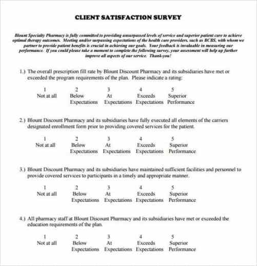 Free Satisfaction Survey Template  Word Excel Formats