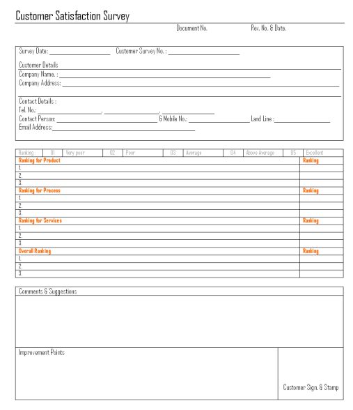 Satisfaction Survey Template | 21 Free Satisfaction Survey Template Word Excel Formats