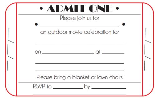 Ticket Invitation Template 4941