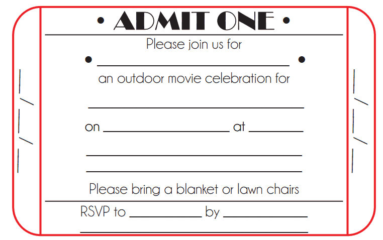 Ticket Invitation Template 4941  Invitation Ticket Template