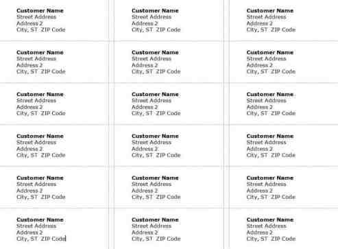address label sample 12