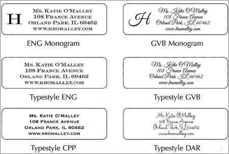 mail label template