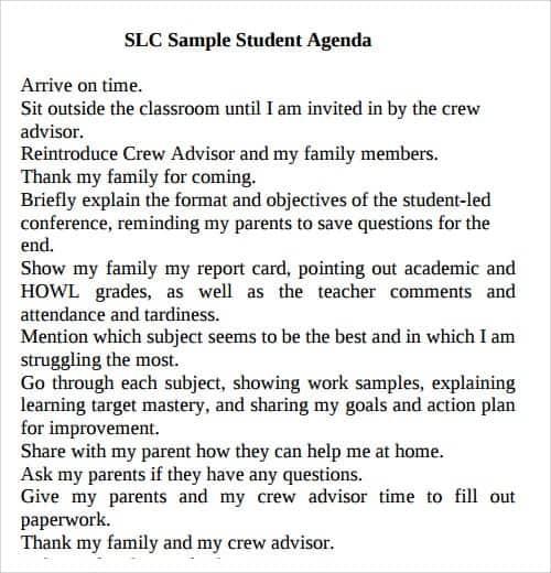 agenda sample 12.46