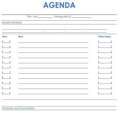 agenda sample 18.641