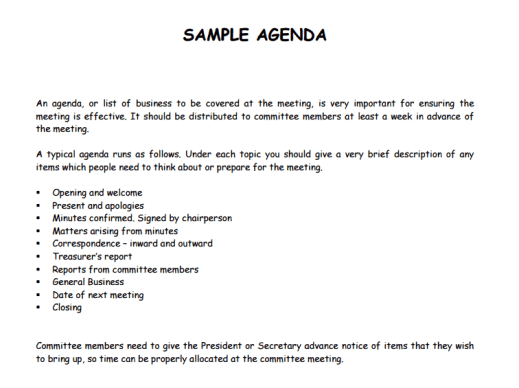 21+ Free Agenda Template - Word Excel Formats