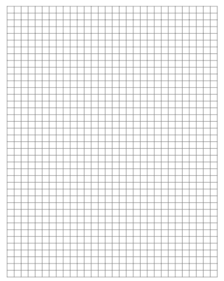 graph paper template 1964
