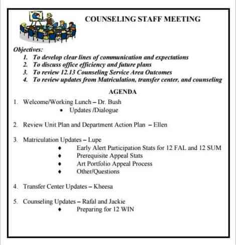meeting agenda sample 11.9741