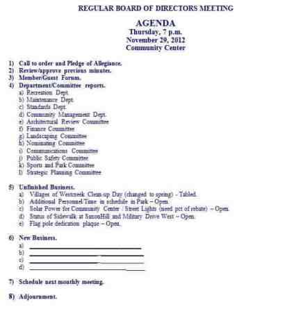 meeting agenda sample 2461