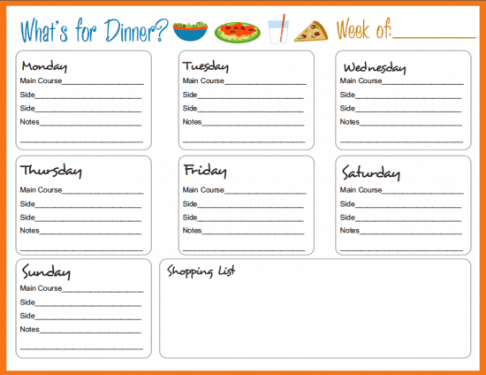 menu planner sample 12.46