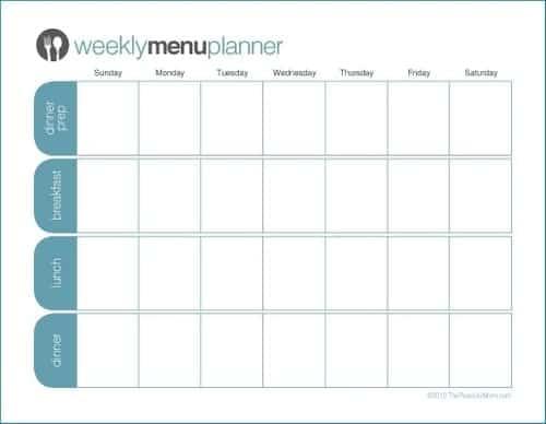 21 Free Menu Planner Template Word Excel Formats