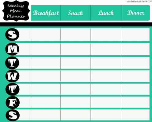 menu planner sample 5461