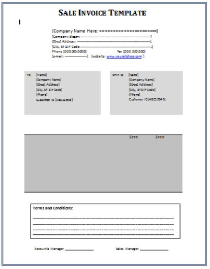 sales invoice template 641