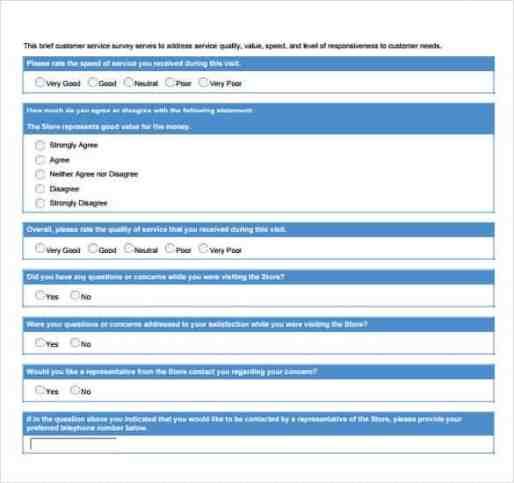 sample survey template 5461