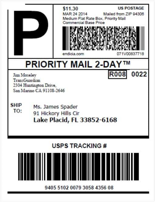 Usps Shipping Label Template. usps tracking barcode and label ...