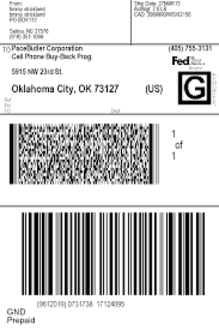 shipping label sample 14.461