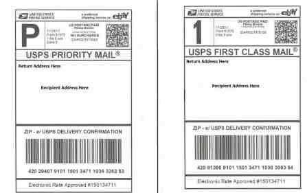 shipping label sample 1641