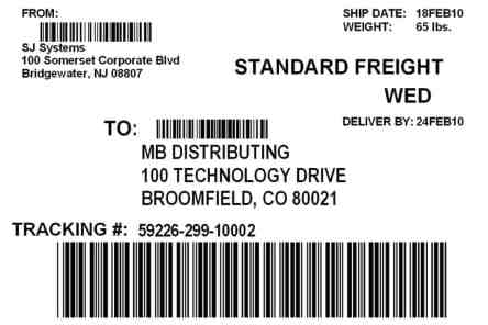 shipping label template 1641