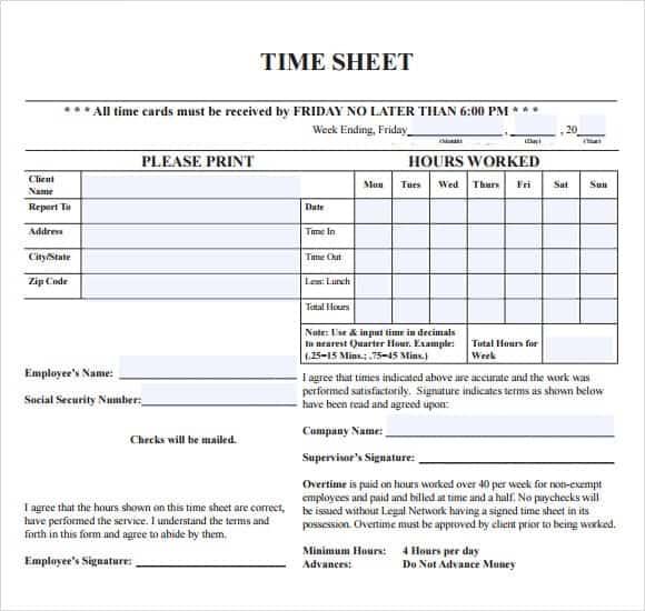 time sheet sample 19.4