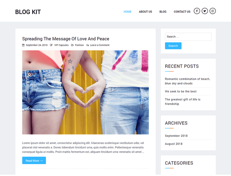 Blog Kit - Best Free WordPress Blog Theme - Best Premium and
