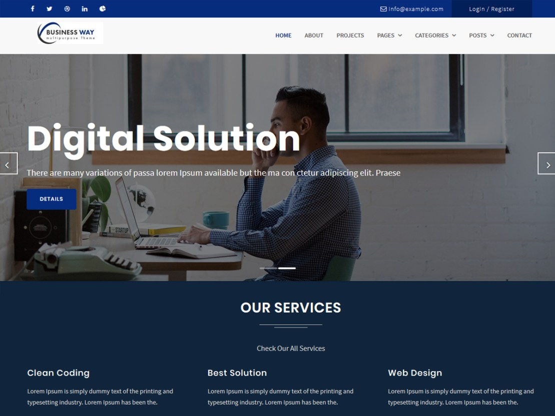 Business Way Pro - Best Premium and Free Responsive