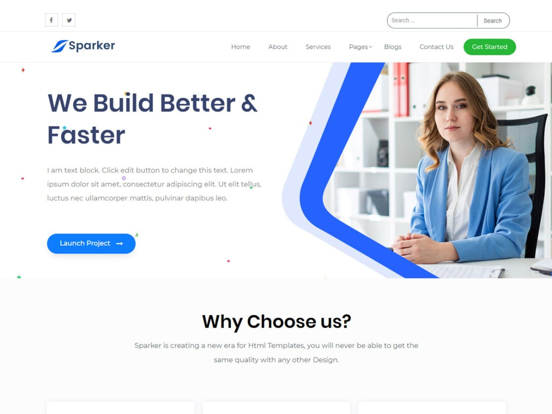 Sparker - Free Elementor WordPress Theme with One Click Demo