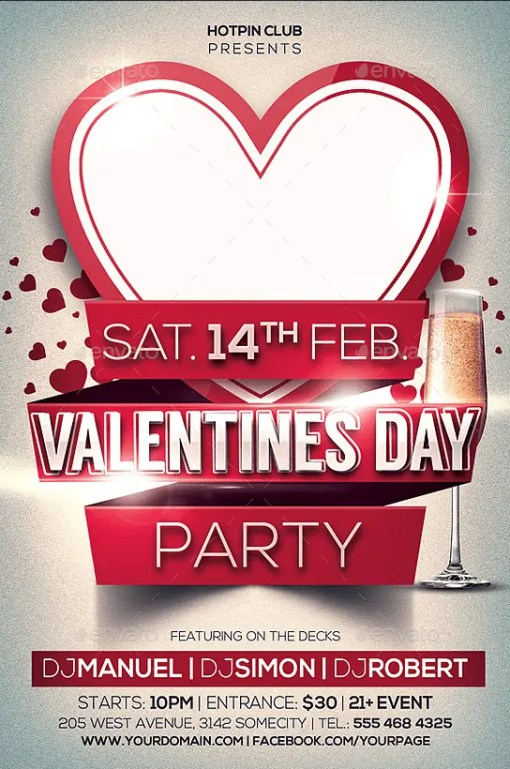 6  free valentine u2019s day flyer templates