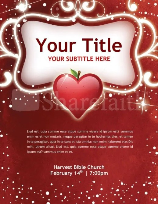 Free Valentine's Day Flyer Templates 346